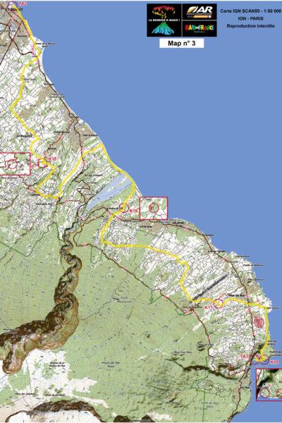 Mapa trzeciego etapu - 41-kilometrowego odcinka rowerowego.
