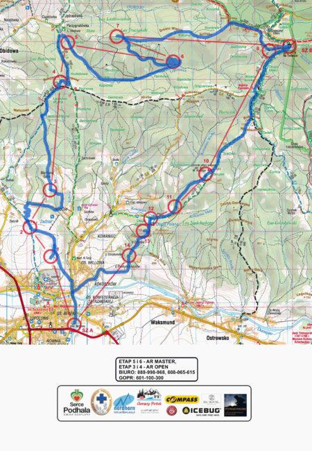 ICEAR - Etap 5 oraz 6 - podejście na nartach biegowych na Turbacz i zjazd na zjazdówkach.
